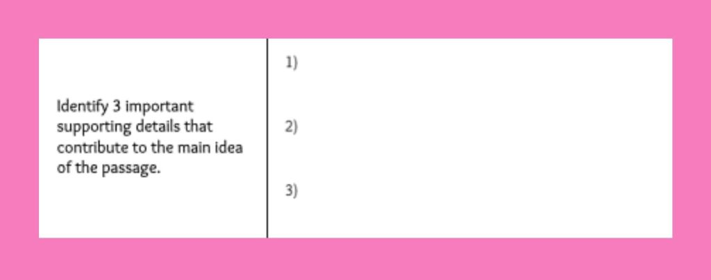 summarizing graphic organizer example
